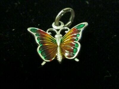 sliver butterfly charm