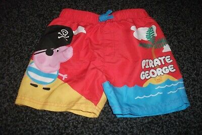 Boys Peppa Pig George Swimming Shorts Size 2-3 years excellent condition