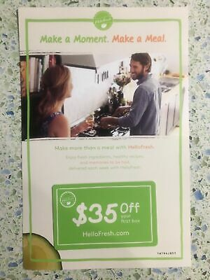 Hello Fresh Coupon $35 Off First Order
