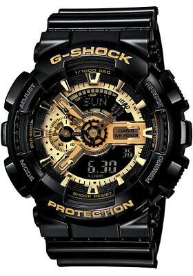 Casio G-Shock X-Large Special Edition Black/Gold Dial GA110GB-1 ---FREE S&H---