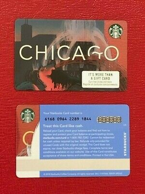 Starbucks 2019 CHICAGO Buckingham Fountain Gift Card - Limited Edition NEW MINT