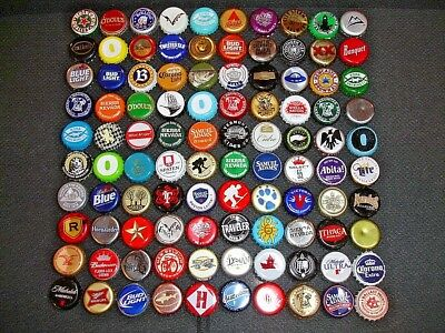 100 Mixed Different - Craft, Micro, Domestic, Import  Beer Bottle Caps
