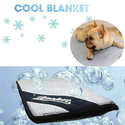 Pet Cooling Mat Pad Gel Cooler For Dog Crate Bed Comfort Chilly Beds L XL NEW