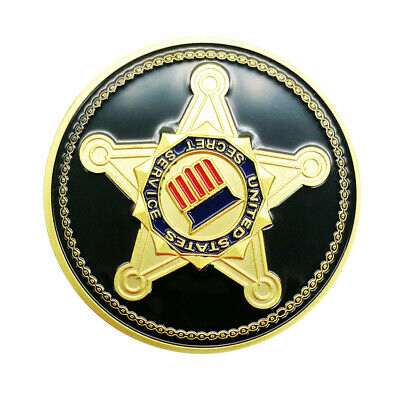 United States Secret Service Gold Coin USSS Seal Of The US President Challenge