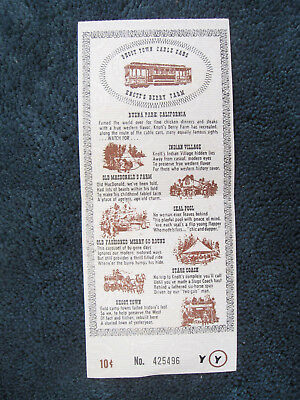 1960's Knotts Berry Farm Ghost Town Stage Coach Seal Pool Farm ticket flyer c