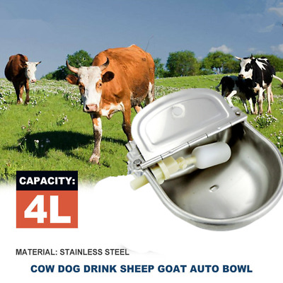 Stainless Steel Trough Horse Cow Dog Drink Sheep Goat Auto Water Bowl