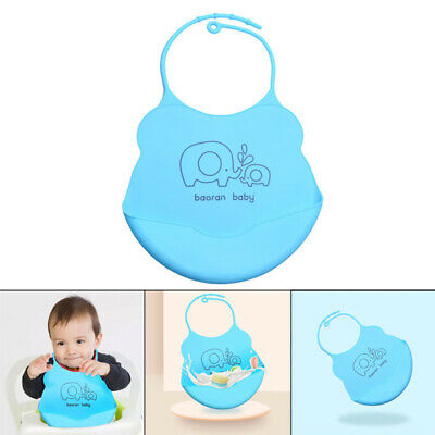 Waterproof Silicone Bib Easily Wipes Clean Comfortable Soft Baby Bibs Foldable K