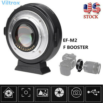 US Viltrox 0.71x EF-M2 Electronic Adapter F Booster For Canon to M43 EF to MFT