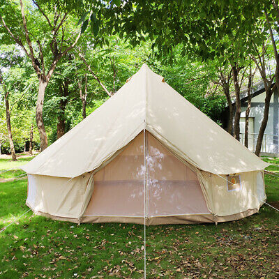 Canada Shipped Large 6M Luxury Glamping Heavy Duty Canvas Bell With Zipped Floor