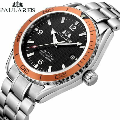 Men's NEW Paulareis Automatic Self Wind Mechanical Stainless Steel Watch