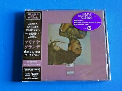2019 JAPAN DELUXE EDITION ARIANA GRANDE THANK U NEXT CD+DVD w/BONUS TRACKS