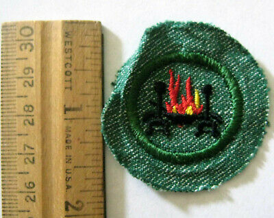 Vintage Girl Scout 1948-1955 HOME HEALTH & SAFETY BADGE Fireplace Hearth Patch