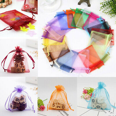 10PCS Organza Wedding Xmas Party Favor Gift Candy Bags Jewelry Bags Pouches New