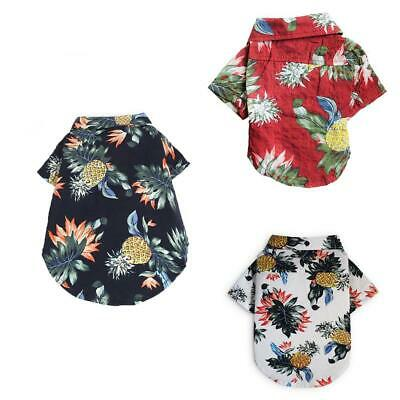 Pet Dog Hawaiian Shirt Beach Clothes Vest Floral Printed Top For Small Large
