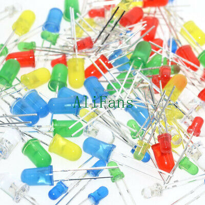100PCS 3mm 5mm Red Green Yellow Mix Color Round Head Light Emitting Diode LED U