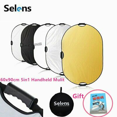5-in-1 Portable Multi-Disc Collapsible Light Photography Reflector + Clean Paper