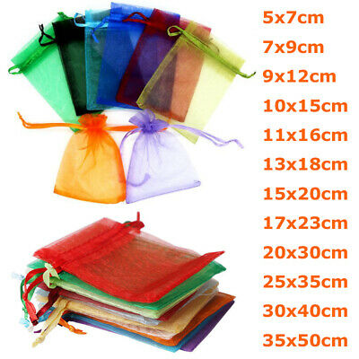 11 Colors Organza Wedding Xmas Party Favor Gift Candy Bags Jewelry Bags Pouches
