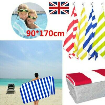 Striped Extra Large Microfibre Lightweight Beach Towel Quick Dry -Travel Towels!