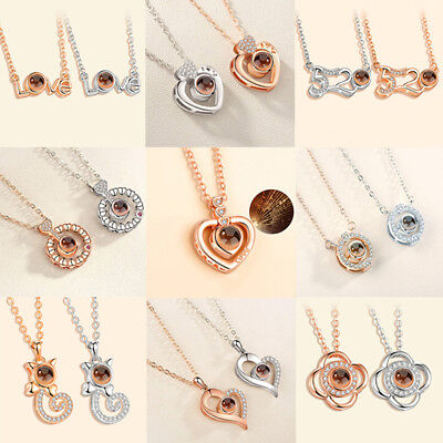 I LOVE YOU in 100 languages Projection Pendant Necklace For Memory of LOVE Gi ES