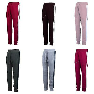Kids Side Stripped Trousers Warm Boys Tracksuit Bottoms Girls Joggers 3-14 Years