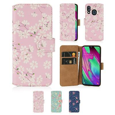 32nd Floral Series 2.0 - PU Leather Book Wallet Case - Samsung Galaxy A40 (2019)