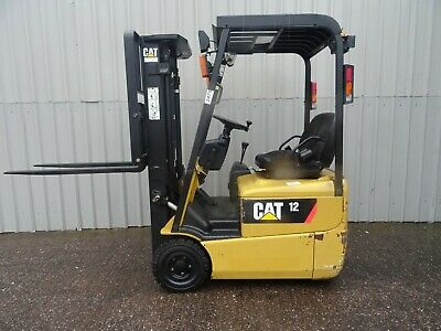 3W CAT EP12KRT. 3000mm LIFT USED ELECTRIC FORKLIFT TRUCK. (#2475)