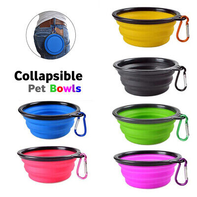 Feeding Collapsible Portable Dog Cat Pet Bowl Puppy Feeder Water Food Dish