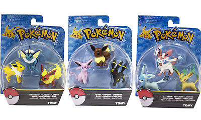 TOMY Pokemon Go eevee evolution family action figure toys 2inches 3Sets New