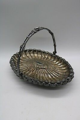 Antique Reed & Barton Silver Plate Bridal Brides Basket 1919 Footed with Handle