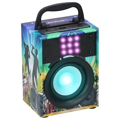 Cassa Altoparlante Speaker Bluetooth con Effetti Luce LED Portatile USB Aux MP3