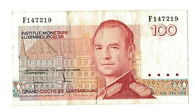 LUXEMBOURG 100 FRANCS Banknote