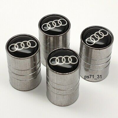 Audi Tyre Wheels Valve Dust Caps Set Gift For Him Her Dad Wife Girlfriend Friend