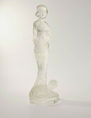 Art Deco Frosted Glass Female Figurine