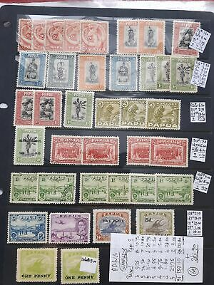 PAPUA Collection on two Hagners with useful pickings - 8021