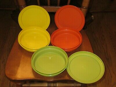 Vtg Tupperware Autumn Harvest Bowls With Lids Cereal