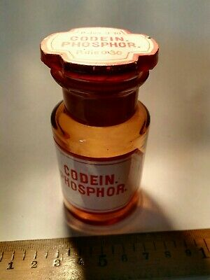 Apothekerflasche Codein Pharmacist BOTTLE CODEIN PHOSPHOR original Flasche