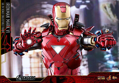 HOT TOY  The Avengers 1/6 IRON MAN Mark VI Action Figure DIECAST