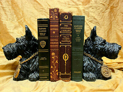 LOT of 4 Old Antique Decorative Leather Binding Book Classic Decor Shelf Library