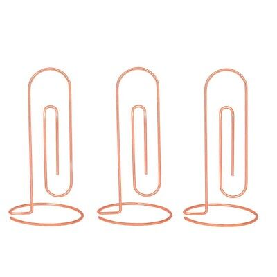 15X(3 Packs Office Memo Holder Stand Table Place Cards Holders Menu Clips,  3H5)