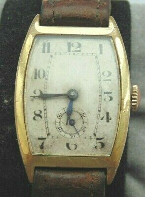 Vintage Art Deco 1924 Gold Plated AML Swiss 15 Jewel Wristwatch