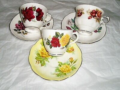 vintage lot of Teacups and saucers , mismatched , English china