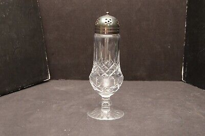 Waterford Cut Crystal Sugar Shaker Muffineer powder Lismore Pattern footed