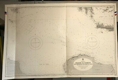 Mediterranean Greece Libya Italy Navigational Chart / Hydrographic Map # 2603
