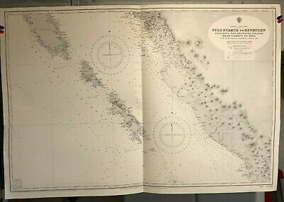 Sumatra West Coast Navigational Chart / Hydrographic Map # 2780 Mentawei Islands