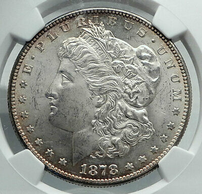 1878 UNITED STATES of America SILVER Morgan US Dollar Coin EAGLE NGC MS i78872