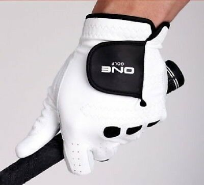[One Golf] Premium 1ea Cabretta Men's Golf Glove Genuine Leather White