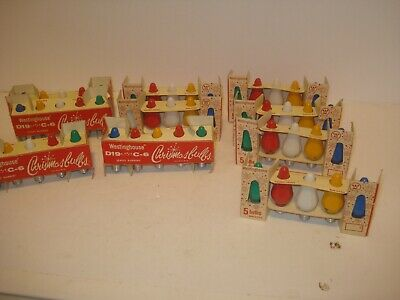 50 Westinghouse C-6 D19 Replacement Christmas Lights/Bulbs  NOS