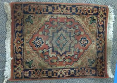 """Old Vintage Antique Persian Oriental Carpet Rug 26"""" by 19"""" Small Rectangle Art"""