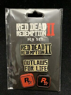 Rockstar Games | Red Dead Redemption II 4 PC Game Pin Badge Set | Brand New