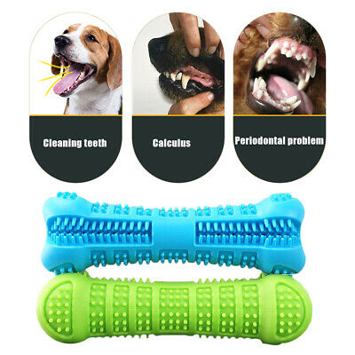 Pet Dog Bone-shape Toothbrush Brushing Chew Toy Stick Teeth Cleaning Oral Care v